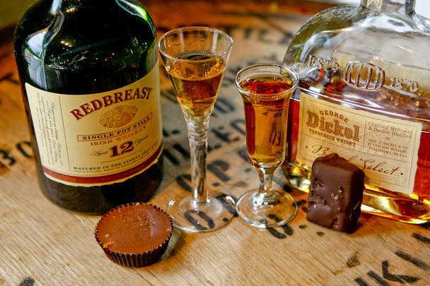 whiskey and chocolate.