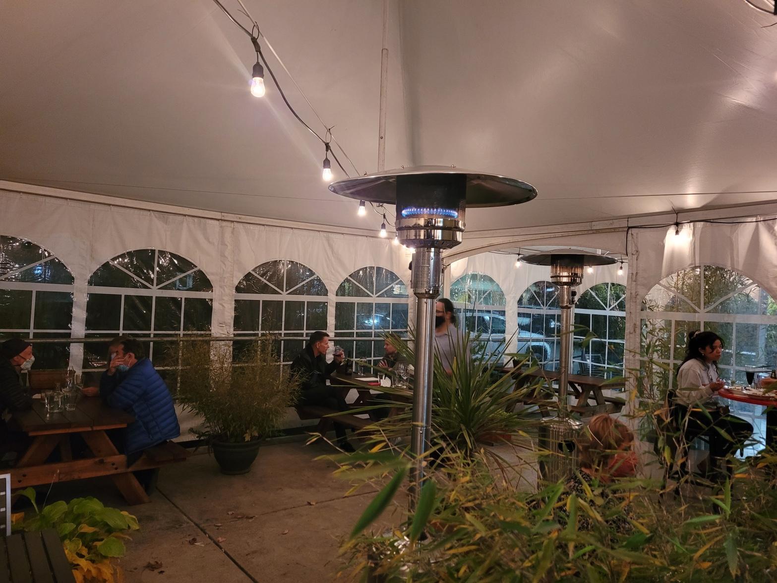 new patio tent